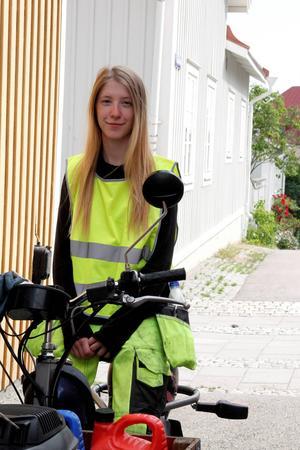 Maria Dahlberg sommarjobbar ända fram till september.