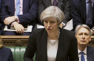 Theresa May talade under torsdagen i parlamentet.