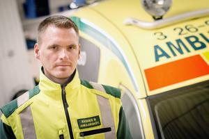 Rasums Bjerén, ambulanssjuksköterska i Ljusdals kommun och förtroendevald för Vårdförbundet.