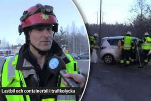 Flera fordon var inblandade i en bilolycka i Falun på fredagen.