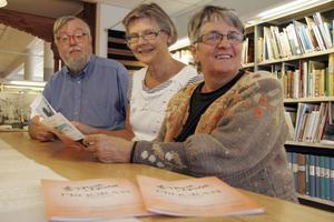 Musik i Ljusdal presenterar ett digert program. Från vänster Anders Widell, Birgitta Hägglund och Zoila Tellzén.