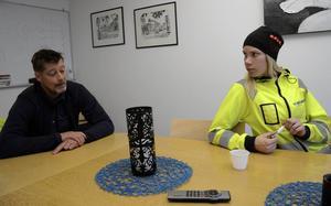 Håkan Löfqvist jobbar på Byggnads kontor i Östersund och Evelina von Sneidern är första kvinnliga ledamot i styrelsen för Byggnads Mellannorland någonsin. Båda tycker att det finns en hel del att jobba på när det gäller jämställdhet inom branschen.