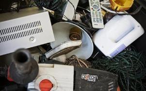 Elektronik ska slängas i särskilda korgar.FOTO: ANNIKA BJÖRNDOTTER