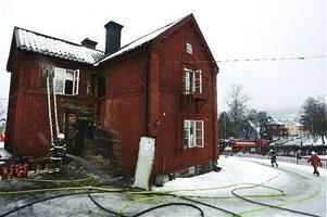 Enligt polisen finns en misstanke om att branden varit anlagd.