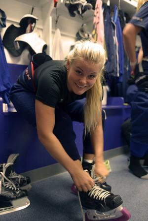 Cecilia Östberg ska hjälpa FBK i kvalet. Vad som händer sen vet hon inte.