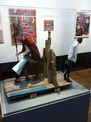 Let´s dance heter Bosse Wallertz verk, ett av två som han deltar med i utställningen.