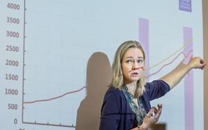 Vice riksbankschefen Cecilia Skingsley berättar om hushållens ökade skuldsättning.