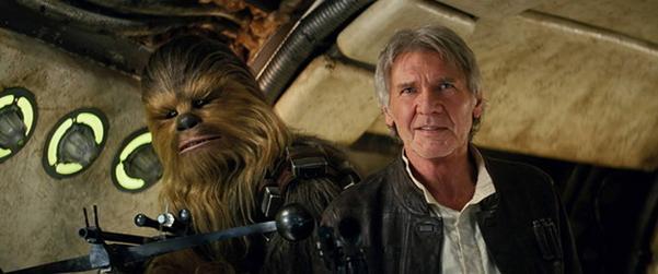 Chewbacca och Han Solo tar båda plats på listan.
