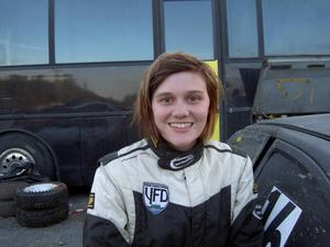 Jessica Persson, Hede, laddar för att ta sin första seger på hemmaplan.   Arkivbild: Hans Andersson