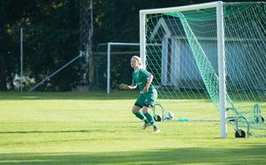 Målvakten Amanda Andersson gjorde mål för Rimbo