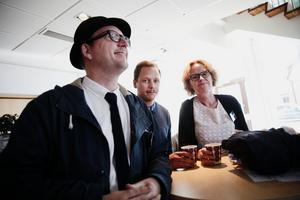 Thomas Esbjörnsson, David Samuelsson och Eva Eriksson, (S) var och lyssade på seminariet.