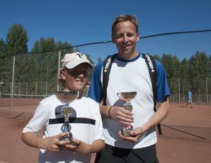 Herman och Peter Sällvin segrade i Generationsdubbeln.