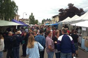 Bergby får en ny höstmarknad. Bilden är tagen under Ockelbo marknad.