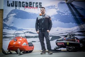 Ljungbergs Motor har rejält tilltagna lokaler Inte så stora att det går att få in ett fjäll men 9000 kvadratmeter under tak ger plats att växa.