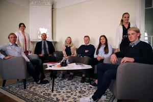 Anneli lyfter fram lokala samarbeten, som det med advokaterna Bergh och Staaf och Mora tingsrätt, som ett vinnande koncept. Här besökte elever advokatbyrån i fjol.