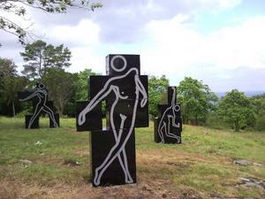 """""""Caterina dansar naken"""" på Kivik Art Center."""