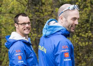 Tobias Långberg är inne på sin tredje säsong som huvudansvarig för utvecklingslandslaget. Till sin hjälp här har sprintlandslagets dito Mats Larsson.
