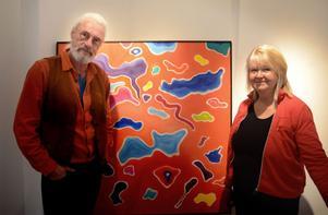 Göran Hedberg och Gunilla Alfredsson har sin första gemensamma utställning.