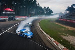David Skogsby, i den blå bilen.
