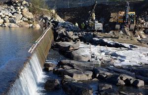 Återställandet av älvfåran vid Brodammen beräknas vara klart till sommaren.