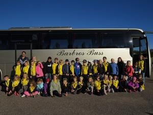 Med stor förväntan åkte barnen buss till Falun.
