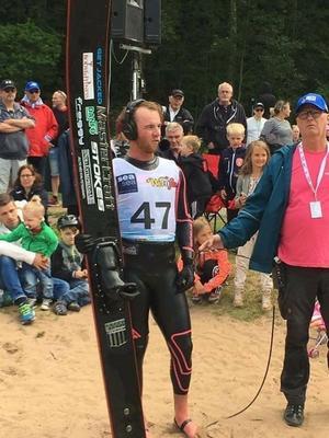 Felix Blomqvist intervjuades i SVT i samband med de dubbla gulden under SM-veckan i Borås.