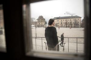 Falun och Stora torget en vanlig vardag i april.