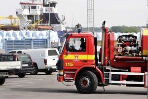 Snabbt på plats. Brandkåren kom snabbt till platsen. Tack vare Mälarenergis personals snabba släckinsats kunde brandbilarna vända åter efter knappt 20 minuter.