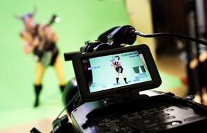 Under videoinspelningen på Bromangymnasiet användes avancerad kamerautrustning.