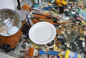 Den statliga myndigheten Konstnärsnämnden har gjort en ny undersökning om konstnärers arbetsmiljö. Arkivbild.
