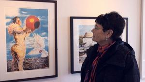 Inga-Britt Eriksson från Säter fascinerades av Caroline af Ugglas verk.