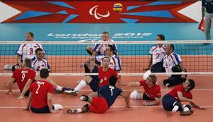 Rysslands volleybollherrar i en match från Paralympics i London 2012. I år får inga ryska idrottare delta.