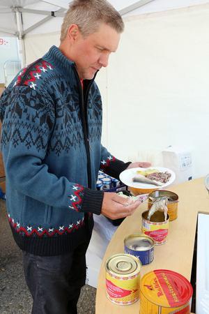 Esbjörn Westlund , Hedeviken, var en av många som käkade suring till frukost