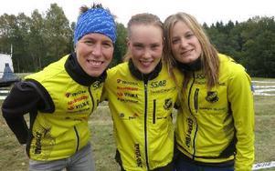 Emma Claesson, Tove Alexandersson och Martina Karlsson vann seniorklassen på SM i Göteborg. Foto: Privat