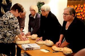 Övningsdockan Little Anne användes när kursdeltagarna skulle lära sig hjärträddning.
