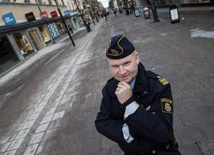 Tomas Åslund, tillförordnad chef för lokalpolisområdet Sundsvall berättar att polisen har ändrat sitt sätt att arbeta.