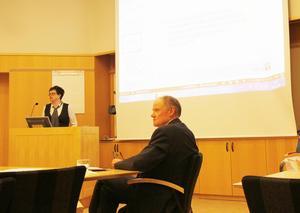 Anna-Karin Andersson, kommunikationschef på Hudiksvalls kommun, med Bengt Friberg kommunchef.