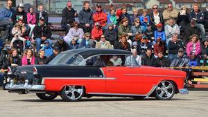 Hans-Åke Sjöströms Chevrolet Bel Air från 1955 vann årets upplaga av Krantz Challenge. Bakom ratten satt sonen Johan.