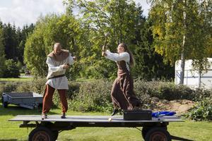 Gycklare är ett måste på en medeltidsdag.