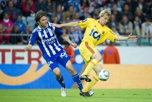 Johan Oremo i en match mot IFK Göteborg tidigare i  år.