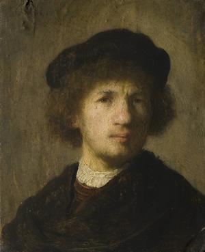 Rembrandts självporträtt från 1630.