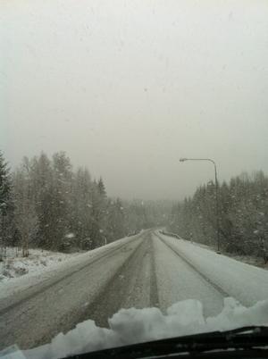 På vägen från Kopparberg till riksvägen.