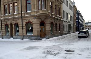 På Centralgatan har bankomaten tagits bort.