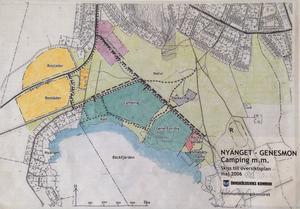 Utbyggd camping, verksamhet vid Gene Fornby, nya bostadsområden och nya vägar ingick i framtidsvisionerna för Nyänget år 2006.