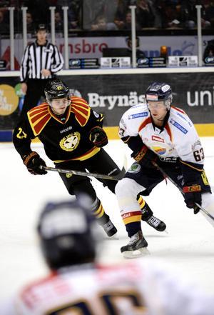 Alexander Lindgren när han spelade i Brynäs.