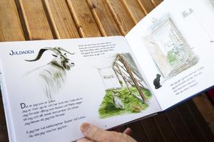 Rolf har skrivit många böcker om geten Linus.