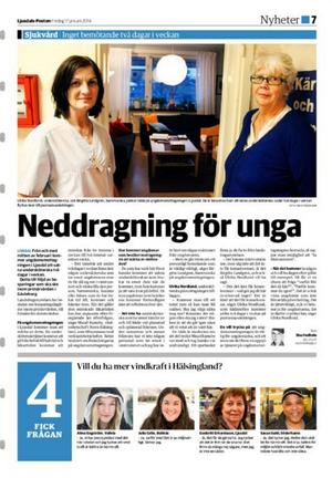 Ur Ljusdals-Posten 17 januari 2014.