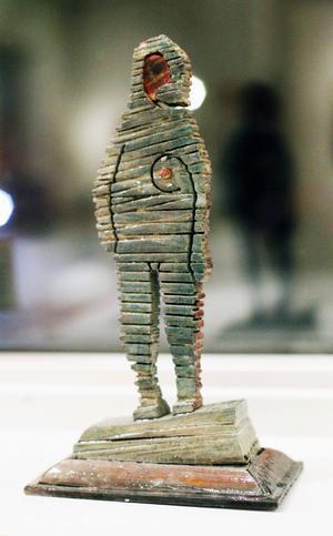 ...samt Torbjörn Bergs lilla skulptur hjärteroten.