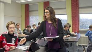 Oavsett om kunskaperna varierar så gäller det att nå alla elever, menar Christina Johansson, svensklärare på Risbroskolan.