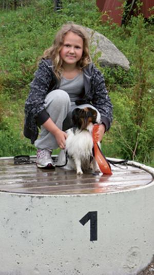 Bästa ungdom: Ellen Kjellin och Vips. Bild: Privat.